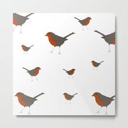 Robins All Year 'Round Metal Print