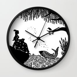 Ye Xian - The Golden Fish Wall Clock