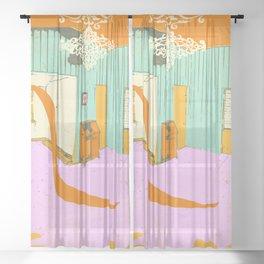 ROOM SPILL Sheer Curtain