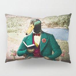 Monsieur Mallard Reading an Improving Book Pillow Sham