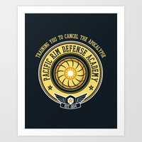 pacific rim Art Prints featuring Pacific Rim Defense Academy by fishbiscuit