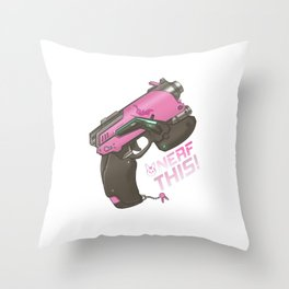 Nerf This! D.va Quote Poster, OW Throw Pillow