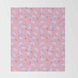 Unicorn Dreams Pink Throw Blanket