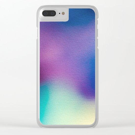 BLUR / ghosts Clear iPhone Case