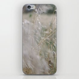 Tall wild grass growing in a meadow iPhone Skin