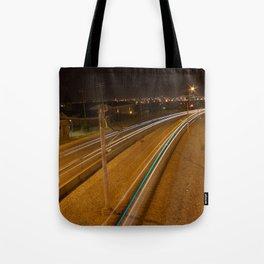 C-Train at night 2 Tote Bag
