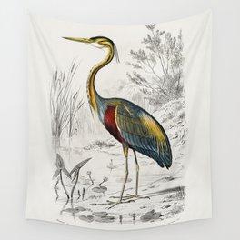 Purple heron (Ardea purpurea) illustrated by Charles Dessalines D Orbigny (1806-1876) Wall Tapestry