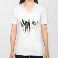 broken V-neck T-shirts featuring Broken by Maressa Andrioli