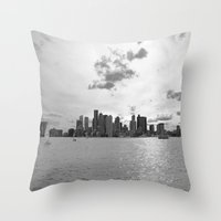 boston Throw Pillows featuring Boston by NaturallyJess
