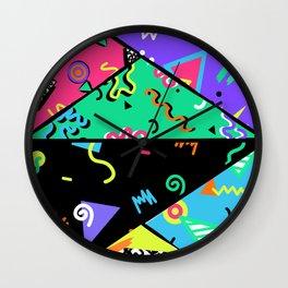 90s Rad Pattern Wall Clock