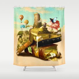 To Lands Away Shower Curtain