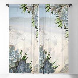 Succulent Hues of Pale Blues Blackout Curtain
