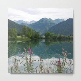 Mountain reflection  on lake Metal Print