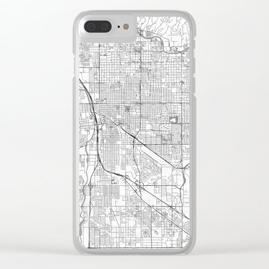 Tucson Map Line Clear iPhone Case