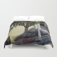 thanksgiving Duvet Covers featuring At Least 'Til Thanksgiving by oneofacard