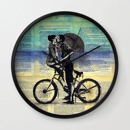 True blue love Wall Clock