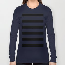 Simply Stripes in Midnight Black Long Sleeve T-shirt