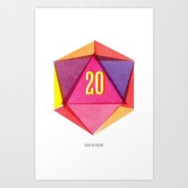 Rolling D20's Like A Big Shot  Art Print