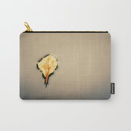 Nature. Last breath of a fallen leaf. Minimal composition. Carry-All Pouch