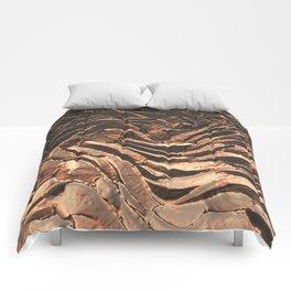 Macro Copper Abstract Comforters