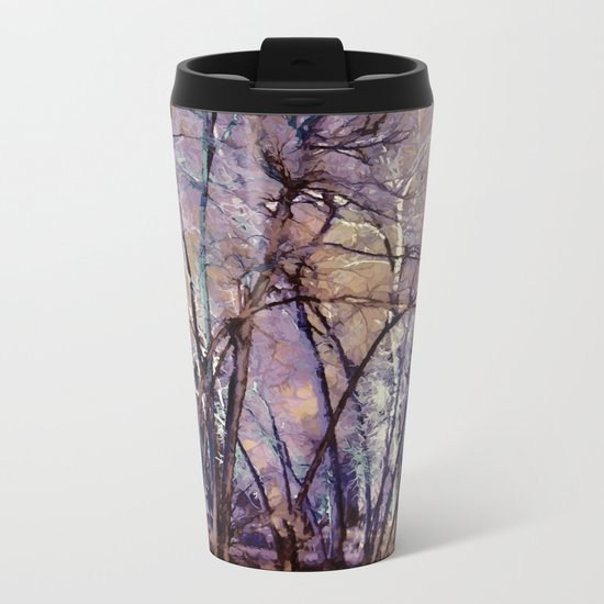 Trees are Poems That the Earth Writes Upon the Sky Metal Travel Mug