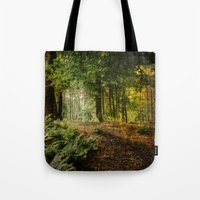 woodland Tote Bags featuring Woodland by BlueMoonArt