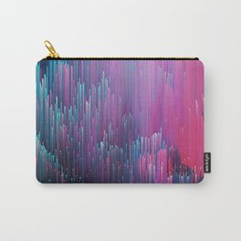 Bold Pink and Blue Glitches Carry-All Pouch