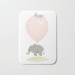 Little flying elephant Bath Mat