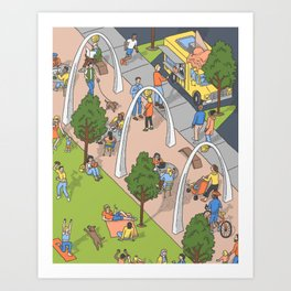 Klyde Warren Park Art Print