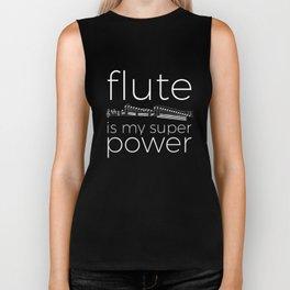 Flute is my super power (black) Biker Tank