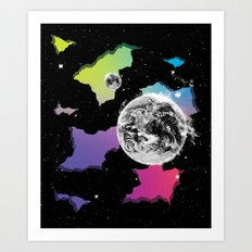 The Neon Spectrum and Cosmic Matter Art Print