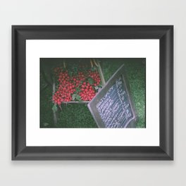 At the Farmer's Market Framed Art Print