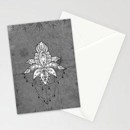 Wonderful lotus, zentangle design Stationery Cards