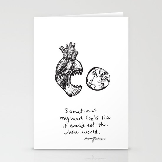 for the heart-hungry Stationery Cards