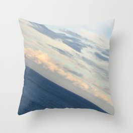 Sea View: The End of the World Throw Pillow