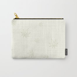 Cannabis Leaves Print Carry-All Pouch