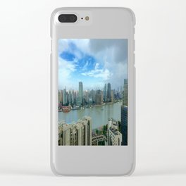 View of the Huangpu river, Shanghai, China Clear iPhone Case