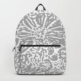 Marigold Lino Cut, Cloud Grey Backpack