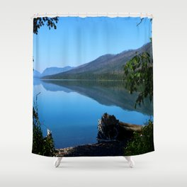Lake McDonald Impression Shower Curtain