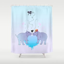 Love Buzz Shower Curtain