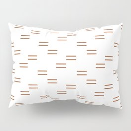 double dash in burnt orange on white Pillow Sham