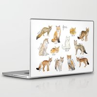 foxes Laptop & iPad Skins featuring Foxes by Amy Hamilton