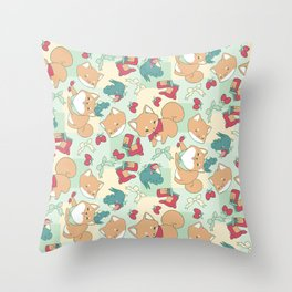 Shiba Birb Picnic Throw Pillow