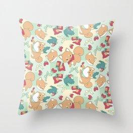 Shiba Birb Picnic Throw Pillow