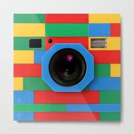rainbow retro classic vintage camera toys Metal Print