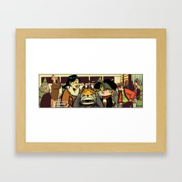 Crying Cat Framed Art Print