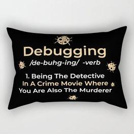 Computer Programmer Gift: Debugging Definition Rectangular Pillow