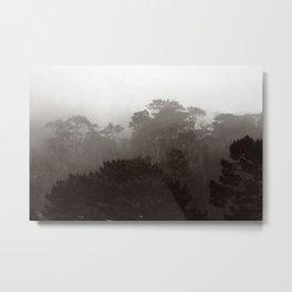 Fog Gradient Metal Print