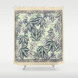 EMERGING MAPLE LEAVES INVERTED Shower Curtain