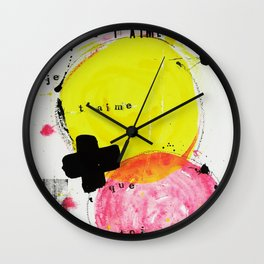 Je t'aime + que toi Wall Clock